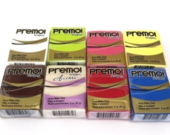 Sculpey premo polymer clay set of 8