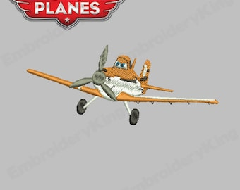 Disney Planes Characters Dusty Filled - Embroidery Machine Design