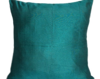 Set of 2 Solid Teal Pillow Cover Plain Teal Pillow Solid Teal Decorative Pillow Teal Accent Pillow Solid Teal Throw Pillow