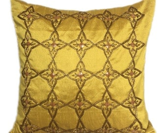 Mustard Yellow Pillow Yellow Pillows Couch  Mustard Yellow Decorative pillow 16X16 Mustard Yellow Accent Pillows Mustard Yellow Throw Pillow