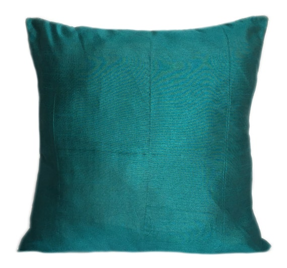 Set of 2 Solid Teal Pillow Cover Plain Teal Pillow Solid Teal