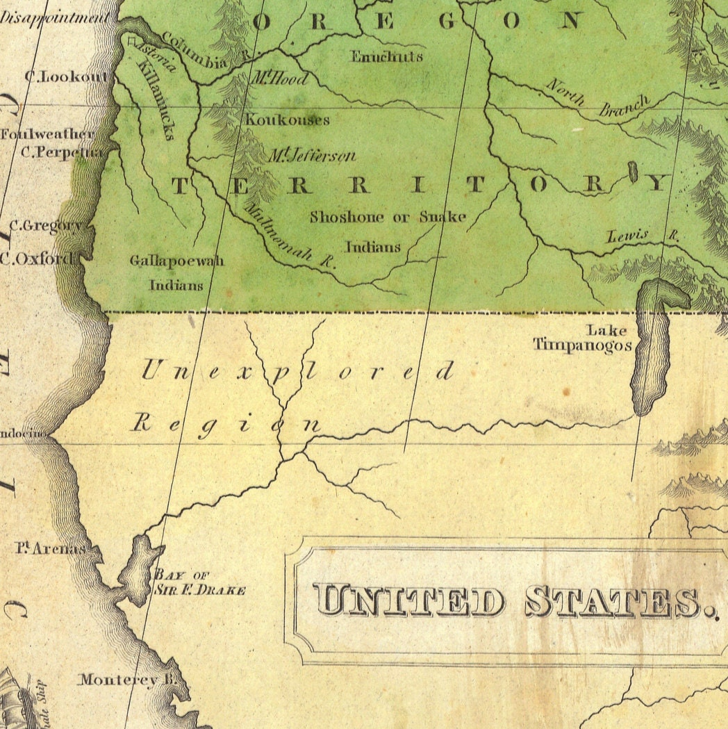 Map Of United States And Territories Old Maps And Prints - Map of us territories in 1830