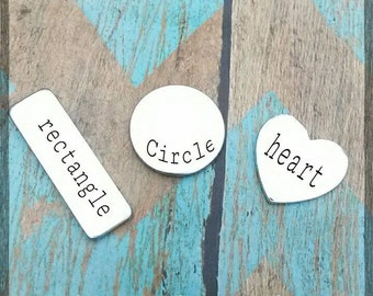 Add on name pendant - Choose your Shape - Heart - Rectangle - Circle - More options in description