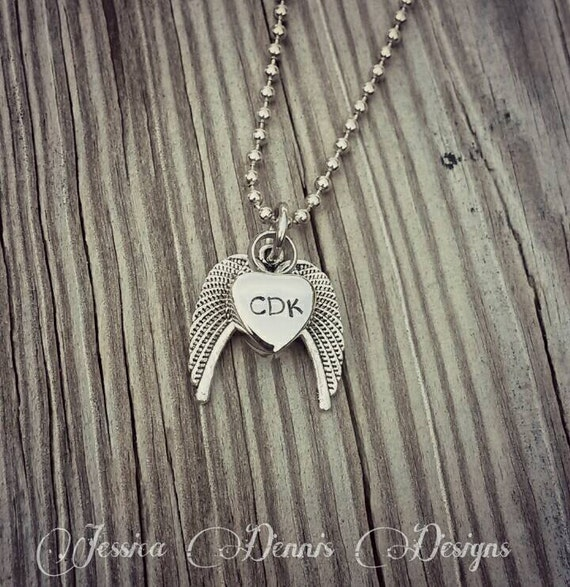 Angel Wing Urn Necklace: Cremation Necklace Dad Angel Wings Tiny Urn Necklace
