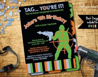 Laser Tag Invitation, Digital Printable, DIY, Laser Tag Birthday, Laser Tag Party, Lazer Tag Invite