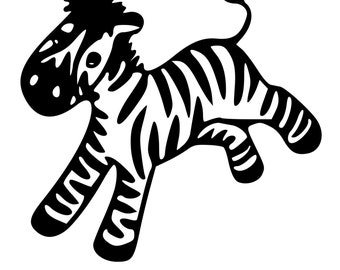 Car Decal Zebra Etsy
