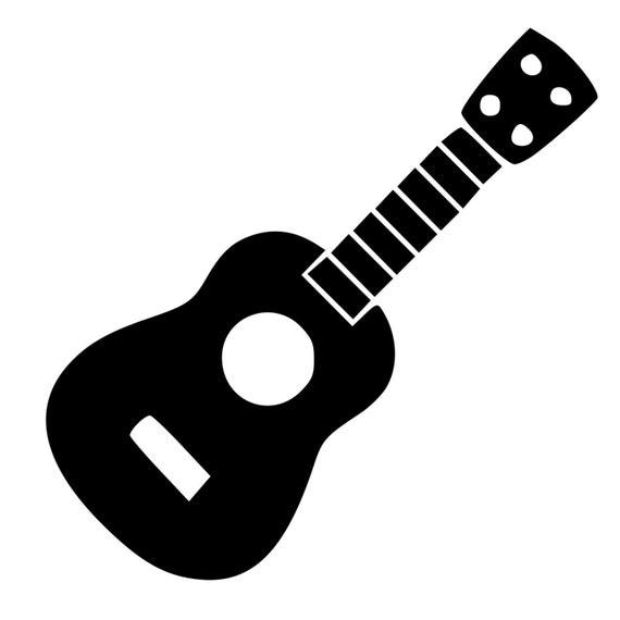 ukulele guitar die cut decal car window wall bumper phone acoustic guitar clip art and white acoustic guitar clipart black and white