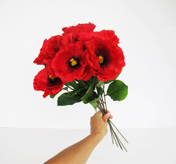Artificial Poppy Flowers Picsbud
