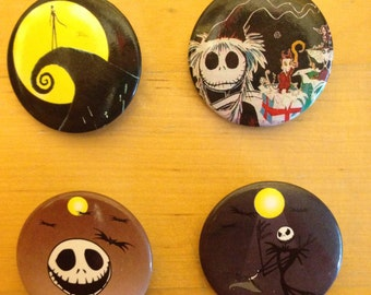 28mm Jack Skellington Nightmare Before Christmas plugs for stretched ears