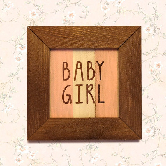 Rustic Name Wall Decor : Baby girl rustic wall decor art