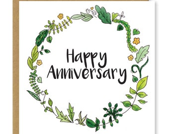 Happy anniversary card | Congratulations on your anniversary | Greetings card Uk