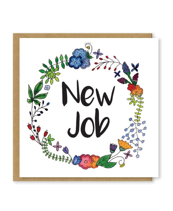New job card congratulations on your new job good luck in like this item thecheapjerseys Images