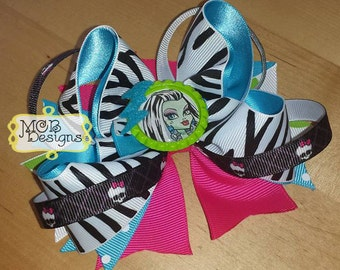 "Monster High ""Frankie Stein"" 5"" Boutique Bow"