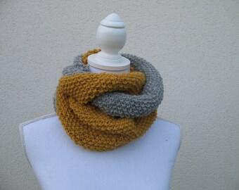 Alpaca wool Circle scarf snood