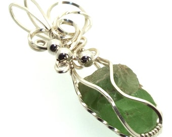Peridot Wire Wrapped Crystal Gem Pendant Design 7