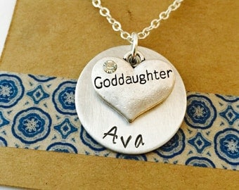 Goddaughter gift etsy goddaughter necklace goddaughter gift personalized goddaughter necklace negle Image collections