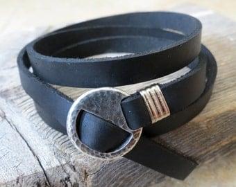 Men Bracelet - Men Leather Bracelet - Men Jewelry - Men Gift - Boyfriend Gift - Husband Gift - Present For Men - Gift For Dad - Male Jewelry