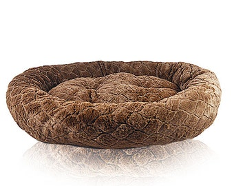 Diamond Cut Super Soft Cozy Dog Bed for Large Dogs