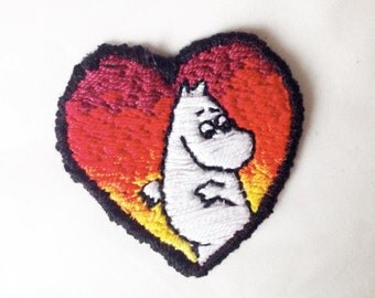 Moomintroll Heart Patch