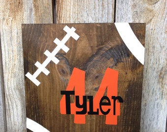"12"" x 12"" personalized football sign"