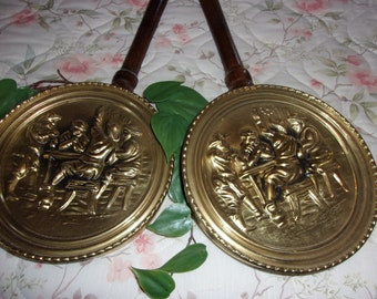 Vintage decorative wall hanging bed warmer