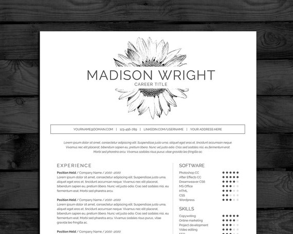 items similar to resume template    cv template  buy one  get one free  free cover letter  us
