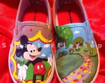 Handpainted custom made to order Mickey Mouse shoes