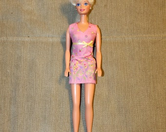 Vintage Barbie Doll w Short Dress Included, Hair in a Braid, Blonde Hair, 1966, Mattel, Made in Malaysia, Barbie Clothing, Fashion, Great
