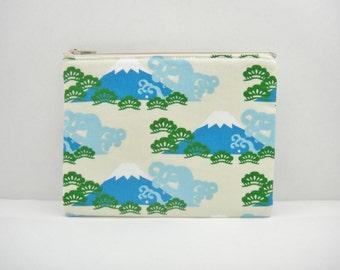 Japanese zipper pouch, Medium size, Fuji