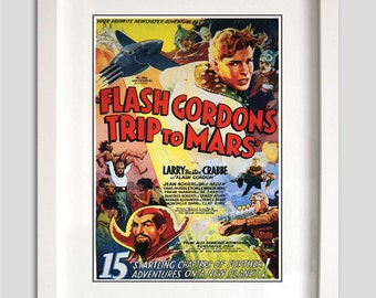 Flash Gordon Comic Poster Print