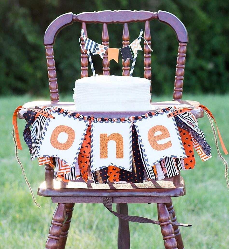 Halloween Birthday High Chair Banner Cake Smash By