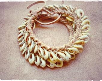 Summer Castaway bracelet wrapped. Layered leather bracelet.Tribal, boho chic.