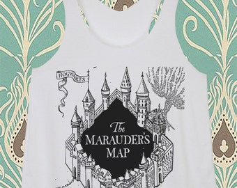 Newly The Marauder's Map Harry Potter Magic Spell Hogwarts Fitness Yoga Racer Shirts Vest Tank Top Tunics Singlet Summer Tunic Woman S M L