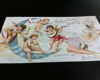 Vintage Vose & Sons Pianos Trade Card