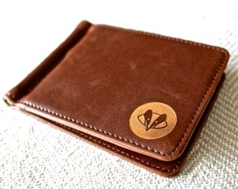 Leather Money Clip Wallet - Swanky Badger