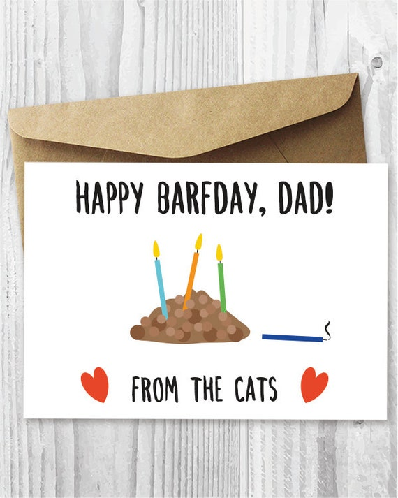 Funny Printable Birthday Card from The Cats Cat Barfday – Birthday Card from Cat