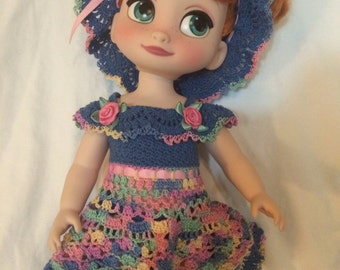 Summer Sorbet in Blue - Crochet Pattern for Disney Animator's Collection Doll DAC