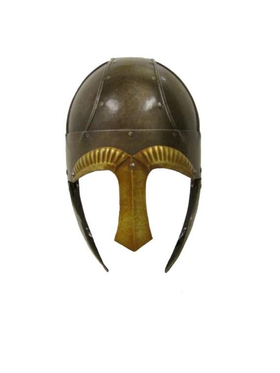 Larp Armour Wide Banded Spangenhelm - plain nasal