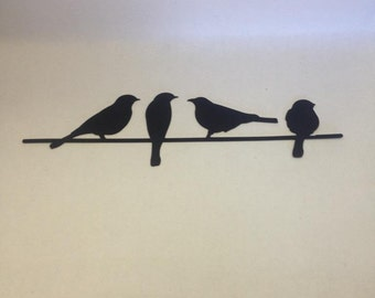 Metal Bird Wall Art, Birds On A Wire Wall Art, Metal Wall Art, Part 46