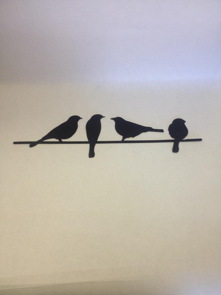 Birds Wire Wall Decor : Metal bird wall art birds on a wire