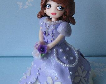 Princess Sophia polymer clay cake topper