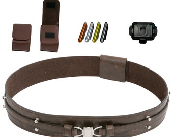 Star Wars Obi-Wan Kenobi Jedi Belt Bundle - Belt, Pouches, Food Caps, Covertec - JR 3195