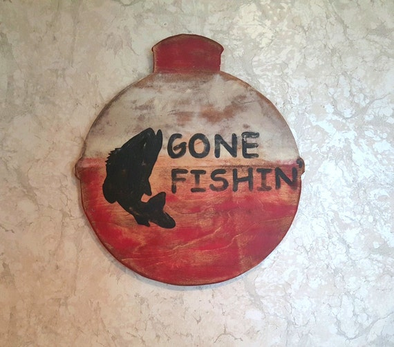 Gone fishing man cave fly fishing lure by themoderneclecticist for Fishing decor for man cave
