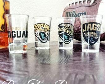 Jacksonville Jaguars Shot Glasses | Football | NFL | Gifts for him | Vintage
