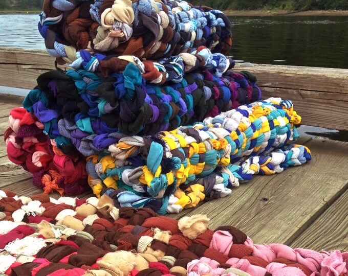 Potholder Rag Rug- Custom Colours,Woven Potholder,Retro,LoopersTrivets,Hot Pads,Fiber Arts,The Swedish Flicka,Recycled Tshirts,Woven Rugs