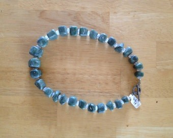 Nephrite Jade and Moonstone Necklace