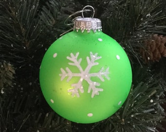 Neon Colored Christmas Ornament with Snowflake