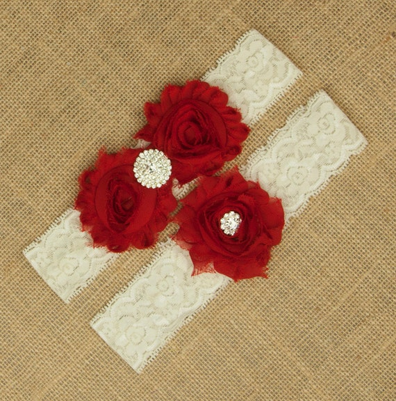 Red Lace Wedding Garter
