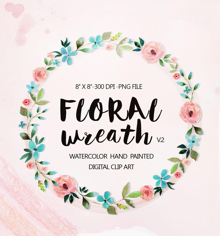 Wreath clipart | Etsy