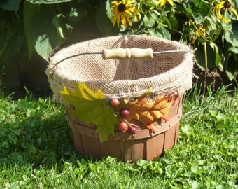 Fall bushel basket~ Rustic fall Wedding basket ~ Up-cycled bushel basket ~ Fall basket ~ Rustic basket